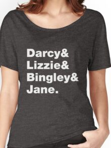 Darcy & Lizzie & Bingley & Jane. Women's Relaxed Fit T-Shirt