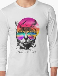 Summer Cat Long Sleeve T-Shirt