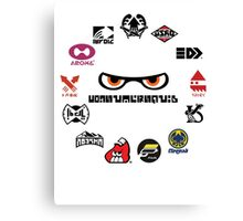 Splatoon - Consumersquid Product Array Canvas Print
