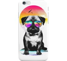Summer Pug iPhone Case/Skin