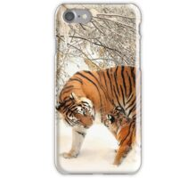 Tigers in snow  iPhone Case/Skin
