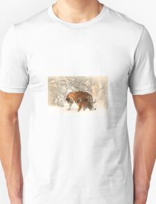 Tigers in snow  Unisex T-Shirt