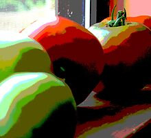 Posterized Tomatoes II by AngelRivera