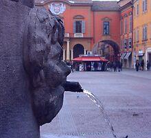 Reggio-Emilia. A fountain on Piazza Duomo. Emilia-Romagna, Italy 2009  by Igor Pozdnyakov