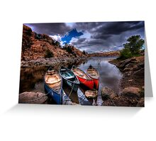 Canoe Break Greeting Card