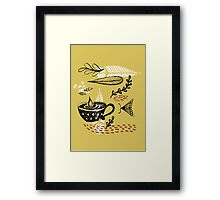 the cup and the moth Framed Print