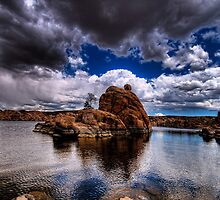 Watson Rock Clouds by Bob Larson