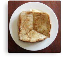 peace of toast Canvas Print