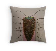 Madagascar Beetle - Lampropepla rothschildi Throw Pillow