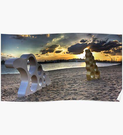 Bizzare Beach Poster