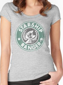 Starship Ranger: Washed starbucks style Women's Fitted Scoop T-Shirt