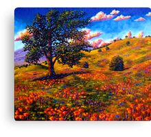 Oak in the Poppy Fields Canvas Print