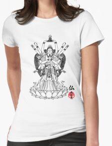16 Arm Buddha Womens Fitted T-Shirt
