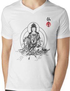 Floating Buddha Mens V-Neck T-Shirt