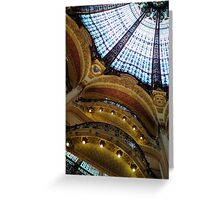 Galeries Lafayette, balconies Greeting Card