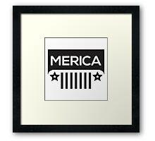 Jeep Wrangler - Merica Framed Print