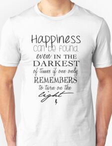 Albus Dumbledore Quote - Harry Potter Unisex T-Shirt