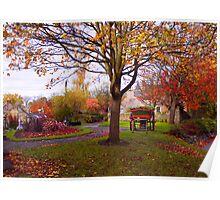 Autumn In Falkland Poster