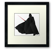 Star Wars:Darth Vader Origami   Framed Print