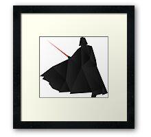 Star Wars:Darth Vader Origami   Framed Print