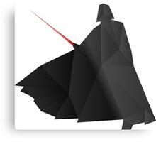 Star Wars:Darth Vader Origami   Metal Print