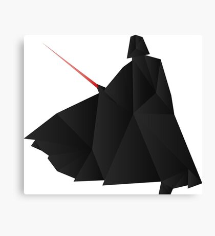 Star Wars:Darth Vader Origami   Canvas Print