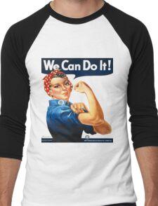 Rosie the Riveter Tshirt Men's Baseball ¾ T-Shirt