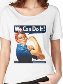 Rosie the Riveter Tshirt Women's Relaxed Fit T-Shirt