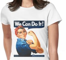 Rosie the Riveter Tshirt Womens Fitted T-Shirt