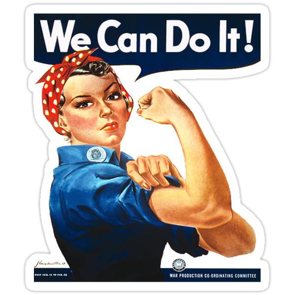 Rosie the Riveter Tshirt by simpsonvisuals