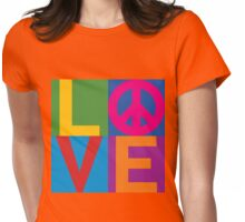 Color Block LOVE=Peace Womens Fitted T-Shirt