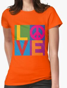 Color Block LOVE=Peace T-Shirt