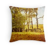 The Cattle Yard Throw Pillow
