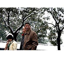 Snow in Beijing...Forbidden City Photographic Print