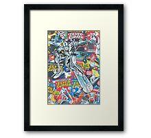 Vintage Comic Silver Surfer Framed Print