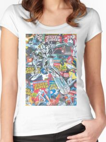 Vintage Comic Silver Surfer Women's Fitted Scoop T-Shirt