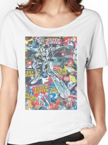 Vintage Comic Silver Surfer Women's Relaxed Fit T-Shirt
