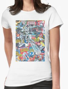 Vintage Comic Silver Surfer Womens Fitted T-Shirt