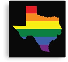 TEXAS STATE GAY PRIDE FLAG Canvas Print
