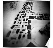 Bricks in Snow Poster
