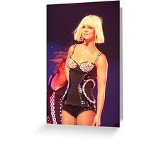Britney - Melbourne - 28/11/09 Greeting Card