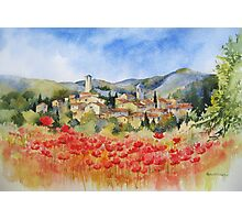 Poppies in Provence Photographic Print