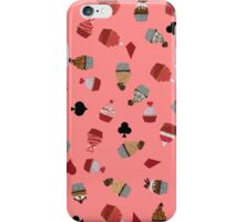 Deck Of Cards Cup Cakes pink iPhone Case/Skin