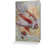 Fire in the engine compartment Greeting Card