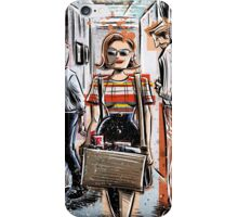 Mad Men Peggy Olson Art lost horizon joe badon Elisabeth Moss Don Draper Sterling Cooper Ad Advertising AMC Female Girl Smoking Red iPhone Case/Skin