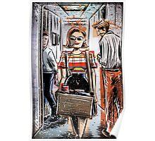 Mad Men Peggy Olson Art lost horizon joe badon Elisabeth Moss Don Draper Sterling Cooper Ad Advertising AMC Female Girl Smoking Red Poster