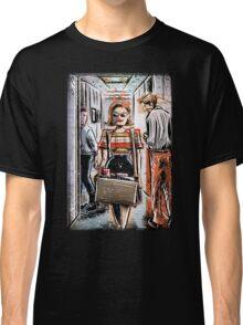 Mad Men Peggy Olson Art lost horizon joe badon Elisabeth Moss Don Draper Sterling Cooper Ad Advertising AMC Female Girl Smoking Red Classic T-Shirt
