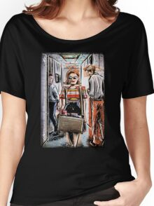 Mad Men Peggy Olson Art lost horizon joe badon Elisabeth Moss Don Draper Sterling Cooper Ad Advertising AMC Female Girl Smoking Red Women's Relaxed Fit T-Shirt