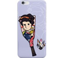Japanese Hanetsuki (Purple Background) iPhone Case/Skin