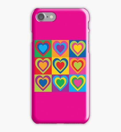 Pop Art Hearts iPhone Case/Skin